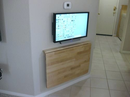 Desk Wall Mounted Fold Down Table Uk Wall Mounted Fold Down Desk Uk Wall  Mounted Folding Table Plans Photo Of Folding Table Attached To Wall With  1000 Ideas ...