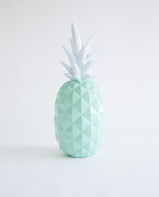 Buy Mint Green Resin Pineapple Mybuckett Com Homeware Home Decor Cushions