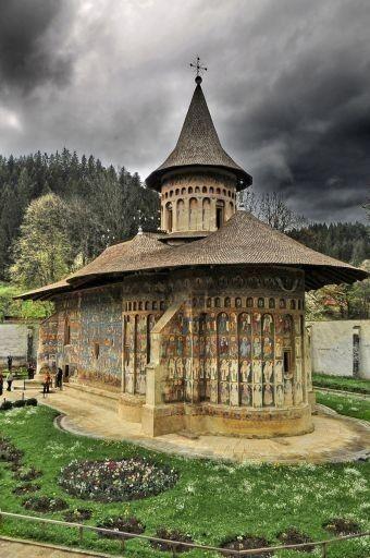 The Voronet monastery in Romania.