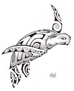 Modèle Tatouage Tortue Maori Polynésien 2012                                                                                                                                                                                 Plus