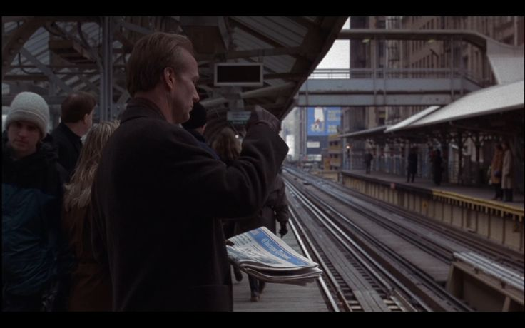 Chicago Tribune Newspaper - Michael (1996) Movie Scene