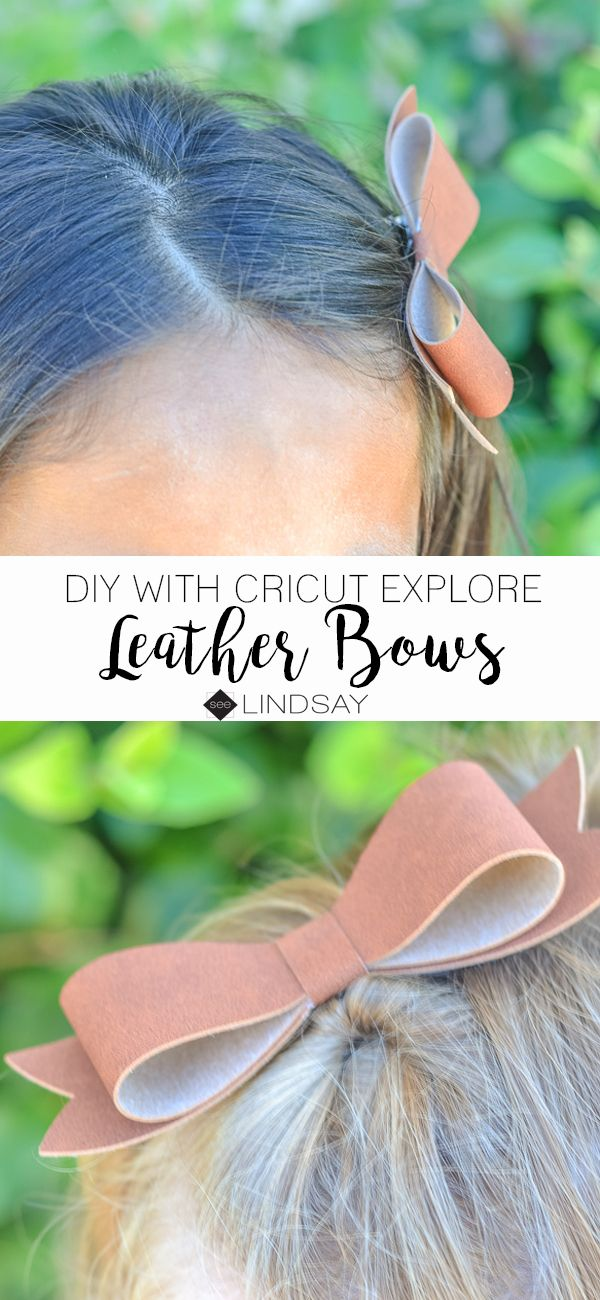 Make your own faux-leather bow with your Cricut Explore