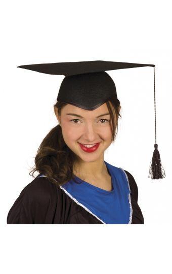 Ce chapeau est la réplique du chapeau universitaire typique américain des lauréats lors de la cérémonie des diplômes !    Optez pour cette coiffe étudiante à l'occasion d'une soirée déguisée sur le thème USA ou pour donner un petit côté solennel à une fête de fin d'études !