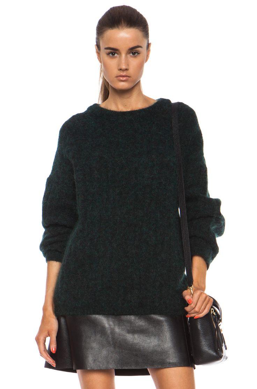 Acne Studios|Dramatic Sweater in Dark Forest Green