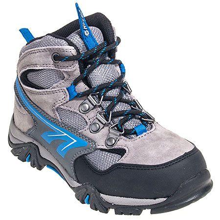 Hi-Tec Boots Boys Big Fit Waterproof Grey Nepal WP Jr Hiking Boots 31333,    #HiTecBoots,    #31333,    #HikingBoots