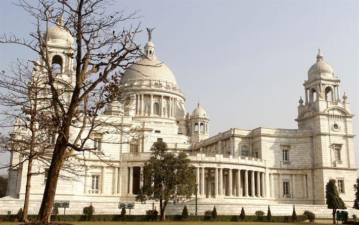 Download wallpapers Victoria Memorial Hall, Kolkata, India, museum, tourist attraction, Queen Victoria, India landmarks