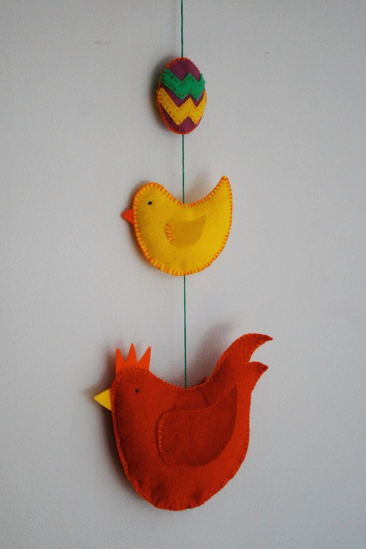 Easter egg, chick and hen hanging decoration - how to tutorial by Make.Do.Sew http://www.cassiejene.com/diy-easter-chicken-and-egg-hanging-decoration-guest-post-by-lou-cox/
