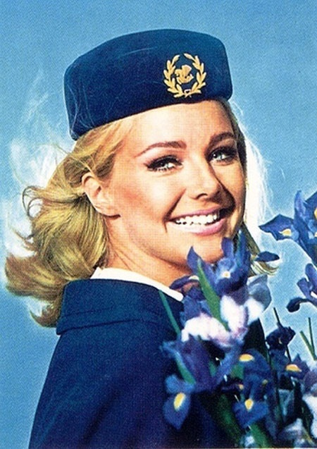 French Air France 60's Stewardess