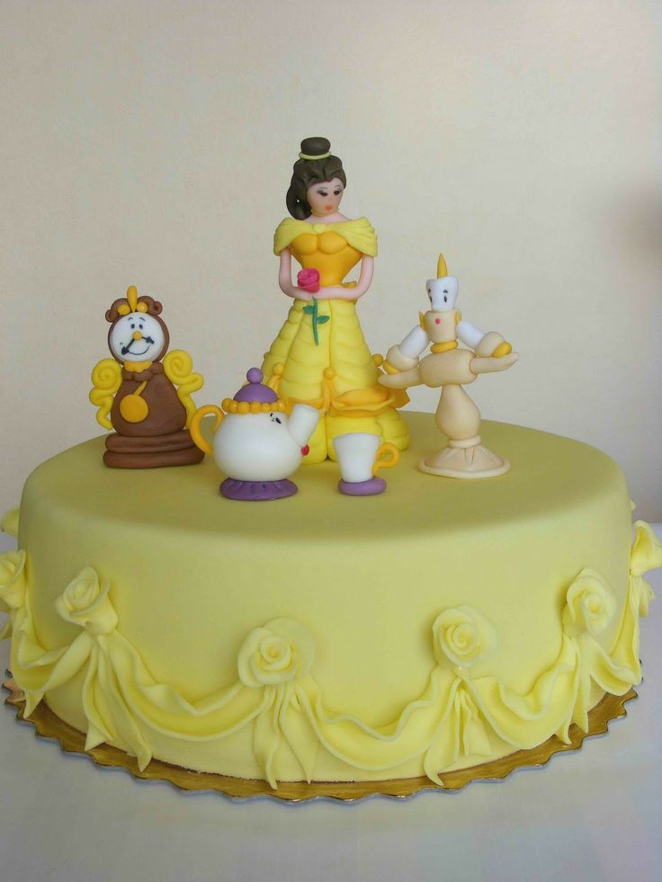 Beauty And The Beast Birthday Cake Mrs Pots