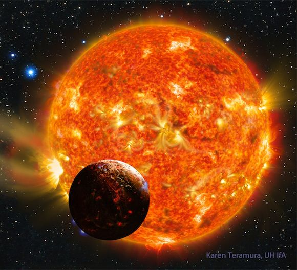 A team of astronomers has found the first Earth-sized planet outside the solar system that has a rocky composition like that of Earth. This ...