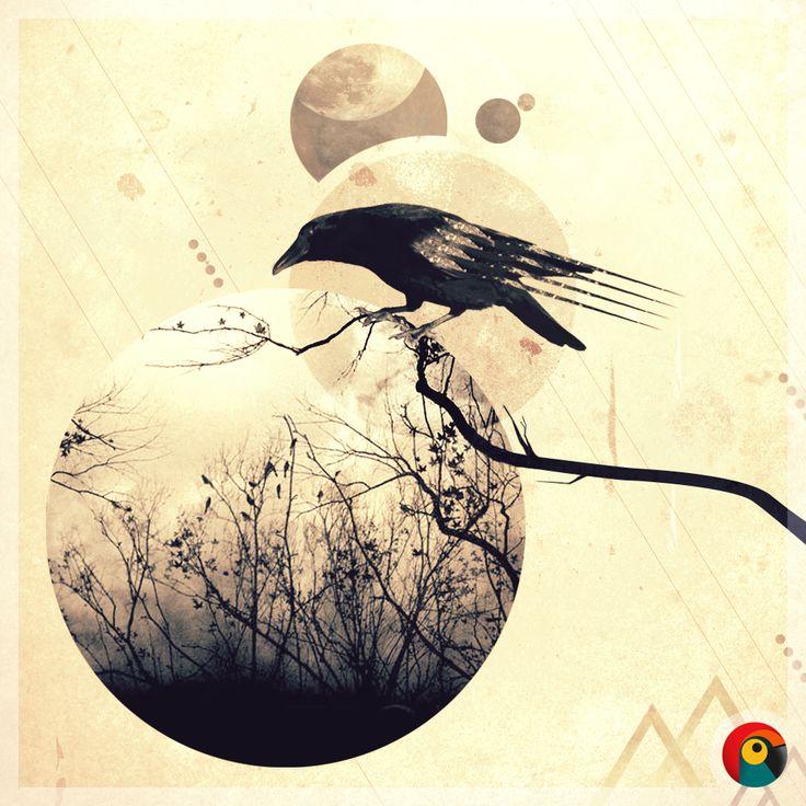 "Pixel Parrot http://www.pixelparrot.co.za/ Illustration Design By: Pixel Parrot  ""Crows World"""