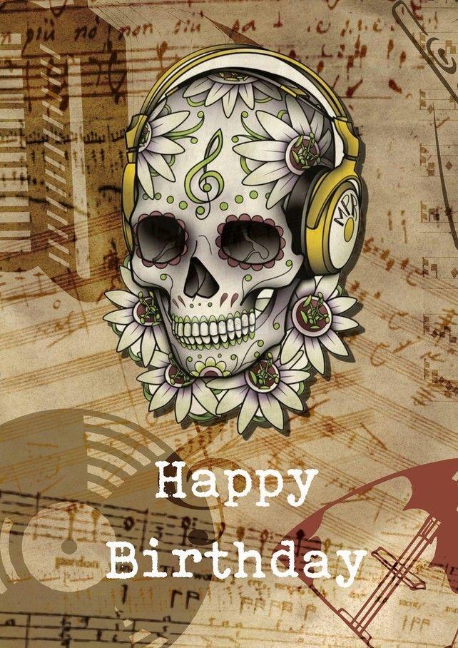 Mexican Sugar Skull Steam Punk Girl Gothic Birthday Greetings Card A5 Handmade Products Stationery Clinicadelpieaitanalopez Com