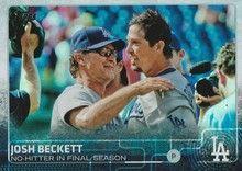 2015 Topps Baseball Rainbow #613 Josh Beckett - Los Angeles Dodgers BH
