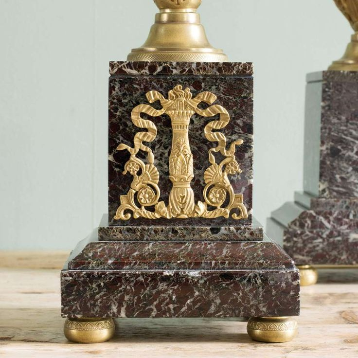 French Neo-Classical Style Marble Cassolettes