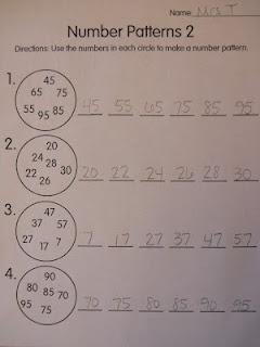 Mrs. T's First Grade Class: Number Patterns