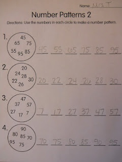 Mrs. T's First Grade Class: Number Patterns