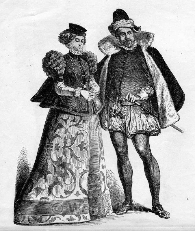 Fashion for men and women in the 16th century