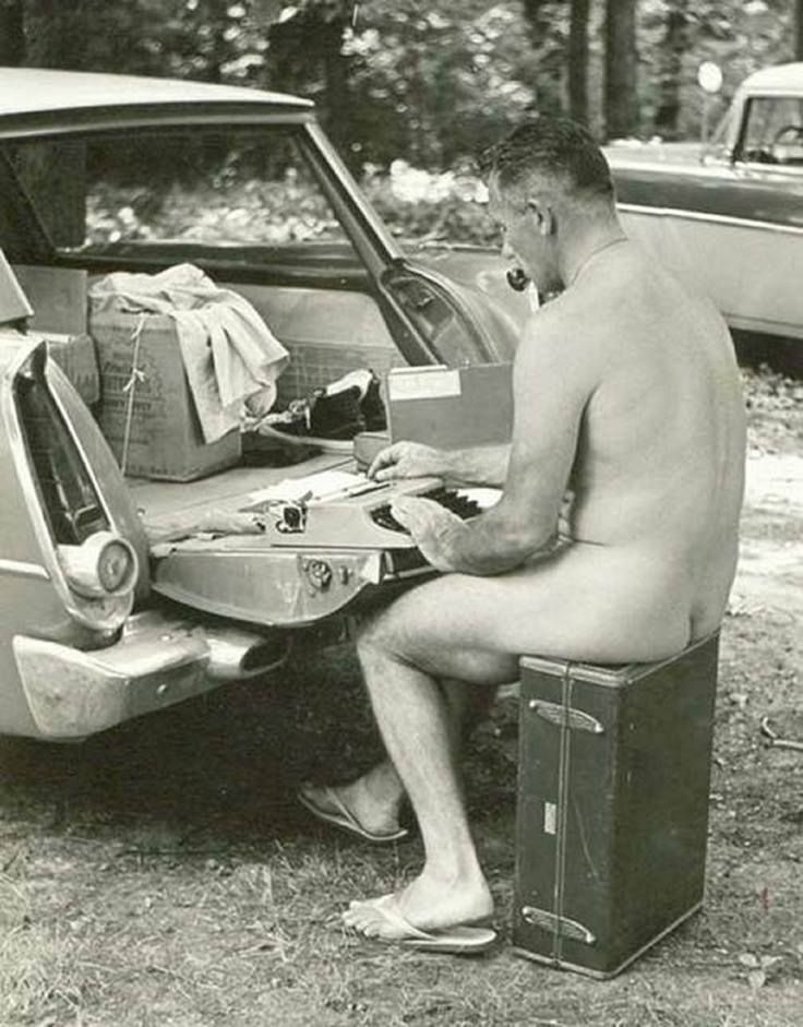 J.D. Salinger, writing.