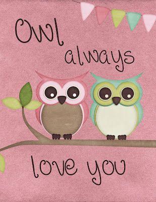 FREE printable owl nursery wall art