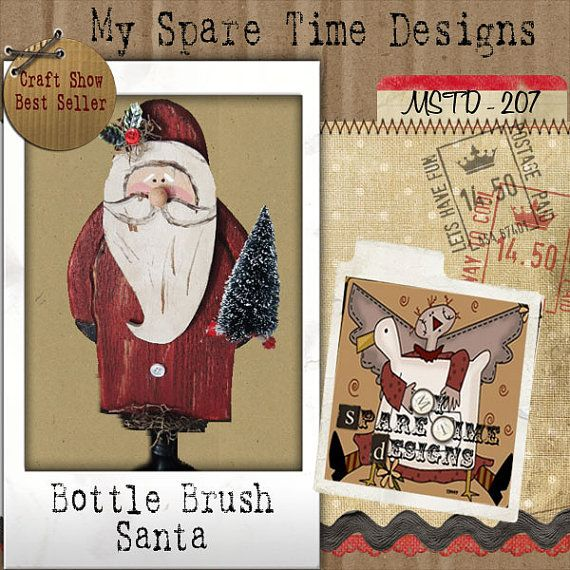 Primitive Wood Pattern Primitive Santa by MySpareTimeDesigns2