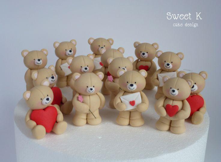 Cute bears en el día de San Valentín .-