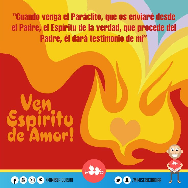 """""""el Espíritu de la verdad, que procede del Padre, él dará testimonio de mí"""". (Jn 15, 26–16, 4a)"""