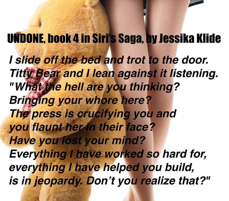 "~ ♦ ~ ♦ ~ ♦ ~ BOOK SPOTLIGHT ~ ♦ ~ ♦ ~ ♦ ~ Undone by Jessika Klide  BUY NOW: http://amzn.to/2py6ys1 Hosted by Itsy Bitsy Book Bits BOOK 4 OF 5: When the press in Rome discovers a stripper from Vegas named Seary (Siri Wright) with the heir to the Liotine Dynasty, Maximus Aurelius Moore, the two lovers are forced to flee the spotlight. Heading straight to Aurei's family unannounced and without explanation, Siri feels like a lamb being lead to the slaughter. ""It's not you bringing a girlfriend…"