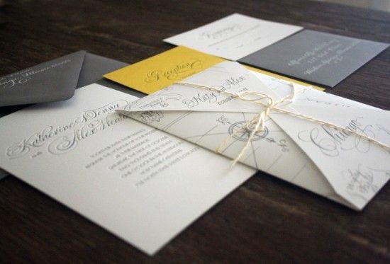 Katie + Alex's Elegant Chicago Map Wedding Invitations | Design/Concept & Photo: Atheneum Creative | Map Illustration & Calligraphy: Elizabeth Porcher Jones | Printing: Side Show Press