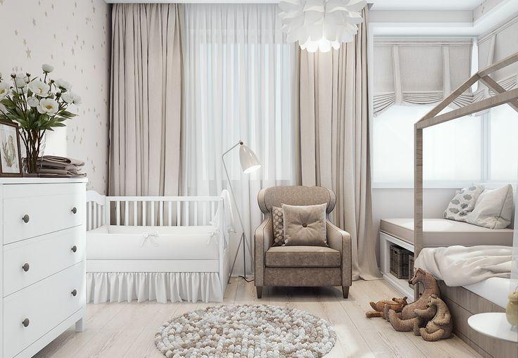 детская для девочки в современном интерьере квартиры