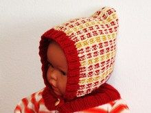Strickanleitung - Mütze mit Schalkragen für Babys und Kinder - Schlupfmütze