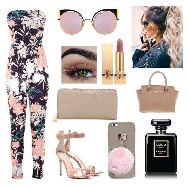 """Untitled #31"" by kirihawkins ❤ liked on Polyvore featuring Miss Selfridge, Gianvito Rossi, Fendi, Yves Saint Laurent, Chanel, Marc Jacobs and Michael Kors"