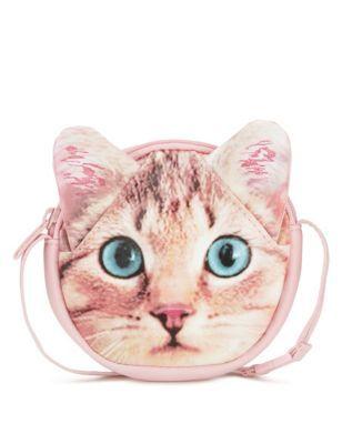 Crossbody-tas met kattenkopje (voor oudere meisjes)