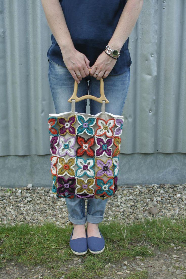 Pretty Crochet Butterfly Bag | AllFreeCrochet.com
