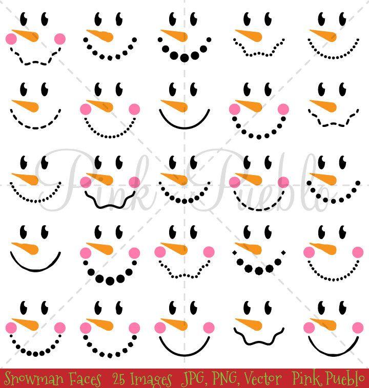 Snowman Faces Christmas Clipart Clip Art, Snowman Christmas Winter Clip Art…