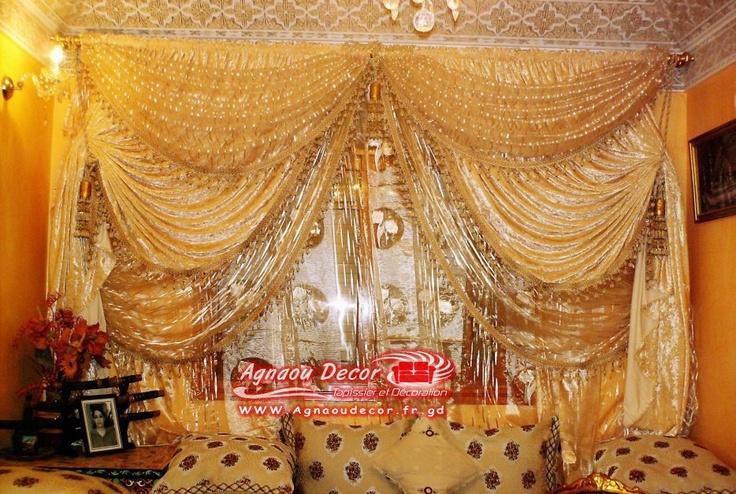 Les 25 meilleures id es de la cat gorie rideaux marocains for Decoration fenetre marocaine