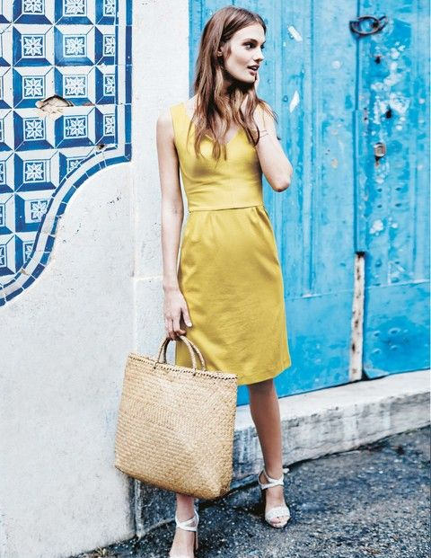 Sarah Ponte Dress WH774 Day Dresses at Boden