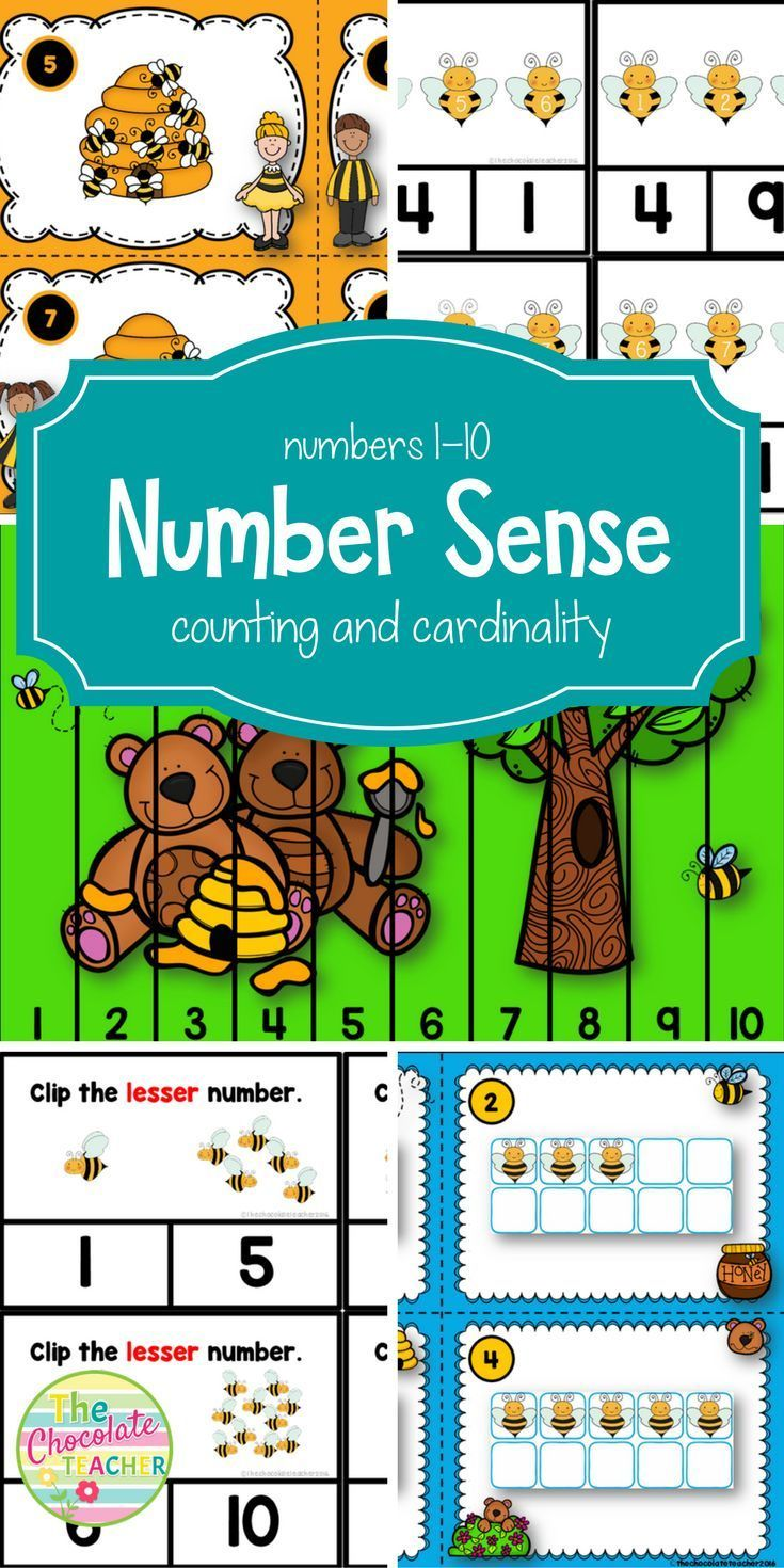 Number Sense to 10 Counting and Cardinality CCSS | Place Value and ...