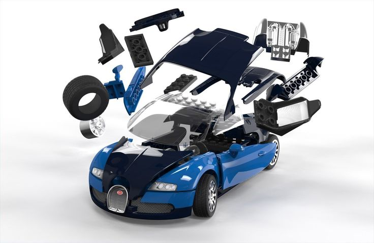 Airfix Quick Build Bugatti Veyron Car Model Kit: Amazon.co.uk: Toys & Games