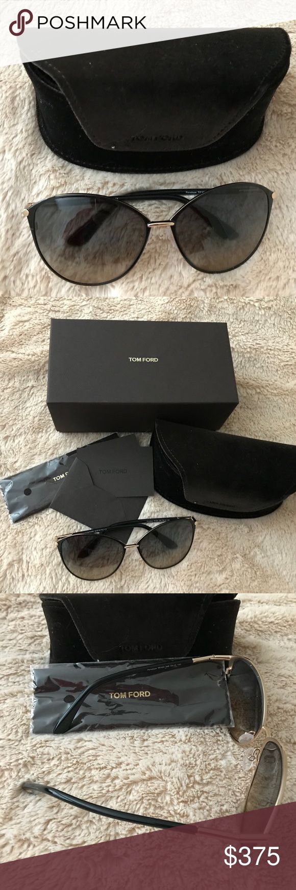 Tom Ford sunglasses.  NWOT Tom Ford PENELOPE AVIATOR SUNGLASSES.  Brand new never worn. Includes box, protective case and new cleaning cloth. Tom Ford Accessories Sunglasses