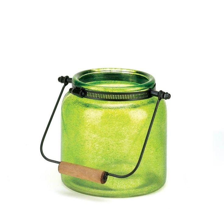 Green Jar Candle Lantern