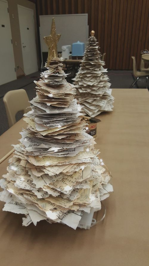 Relief society super Saturday paper Christmas tree