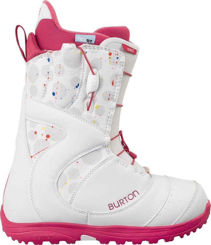 Burton Mint Snowboard Boots White Print Womens
