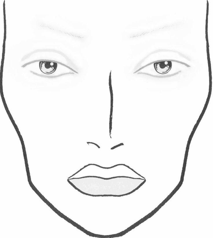 Makeup For Dolls: DIY Blank Makeup Face Charts