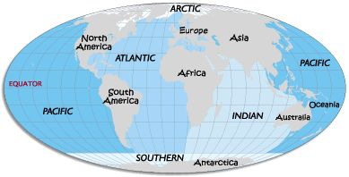 Swim in every ocean: Pacific, Atlantic, Indian, Southern and Arctic