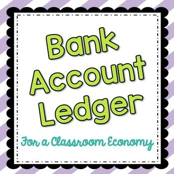 This bank account ledger is a great resource for any classroom economy system! Students use this ledger to keep track of their withdrawals and deposits while learning real-world money management skills. At the beginning of the school year I give my fourth graders a folder in which they keep their bank account, wallet, and any other forms regarding our classroom economy.
