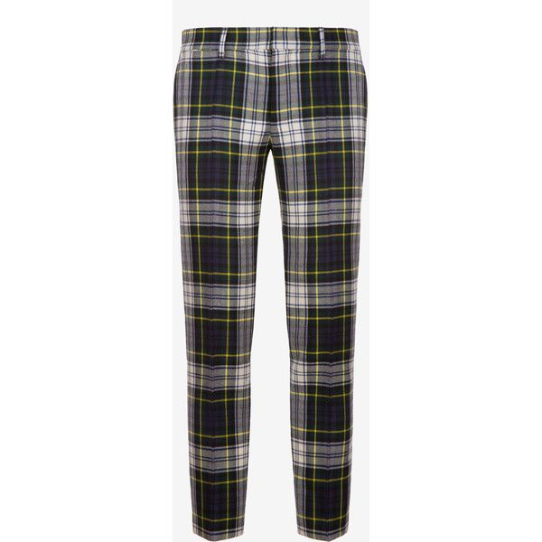 Bally TARTAN CHECK TROUSERS Men's wool trousers in multi-colour (8.339.370 IDR) ❤ liked on Polyvore featuring men's fashion, men's clothing, men's pants, men's casual pants, mens wool pants, mens slim fit wool pants, mens slim fit pants, mens plaid pants and mens tartan plaid pants