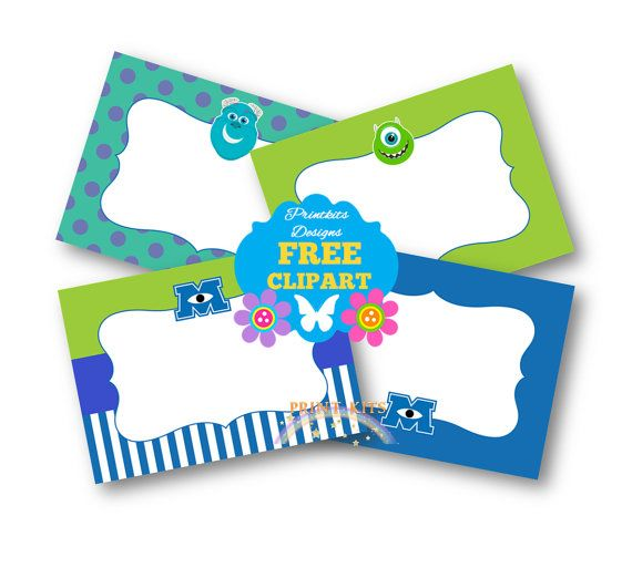 free printable monsters inc thank you tags | Monsters ...