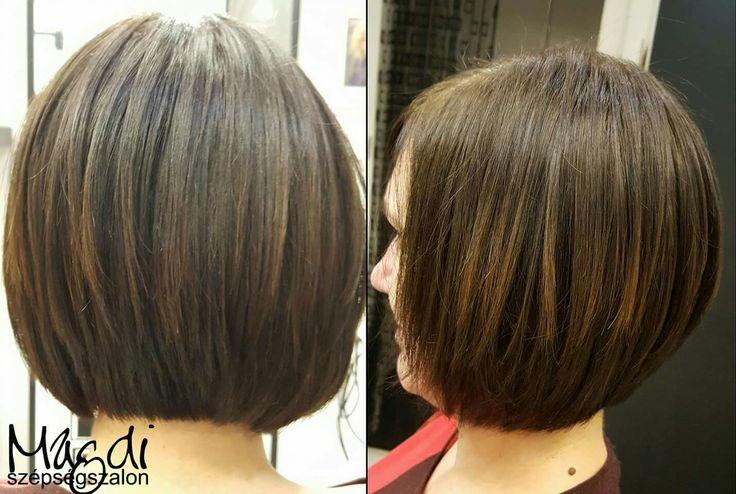 Magdi szép formát adott ennek a bob frizurának :)  www.magdiszepsegszalon.hu  #bobhair #bobhaj #fodraszat #hairdresser #szépségszalon #beautysalon #shorthair #rövidnőihaj #rövidhaj #haj
