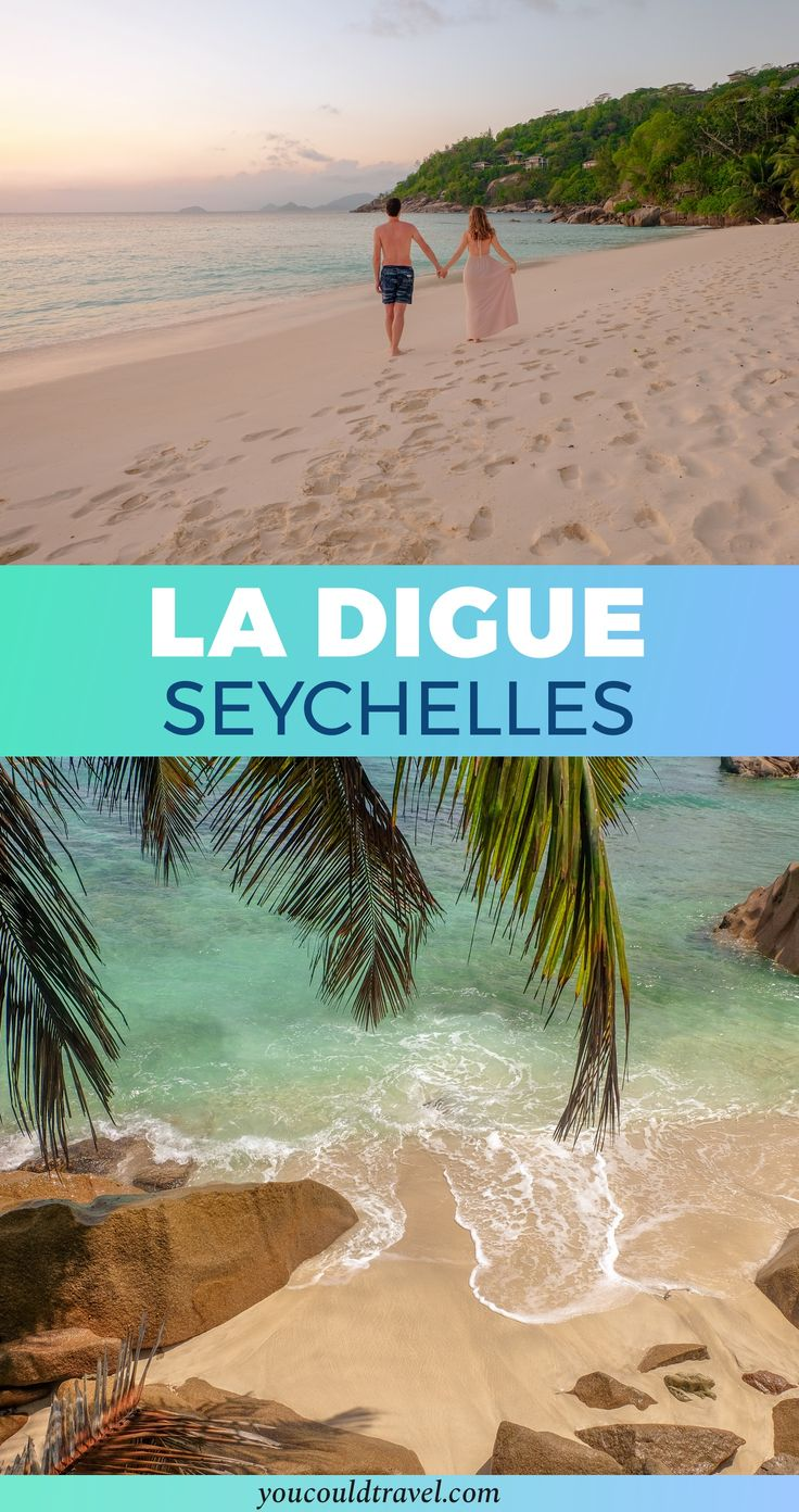 La Digue beach is known as one of the most beautiful beaches in the world. La Digue is in the Seychelles, an archipelago in the Indian Ocean which is perfect for a romantic getaway. The #Seychelles is the most amazing #honeymoon destination. Get your travel inspiration by checking out the island of La Digue, paradise on Earth.