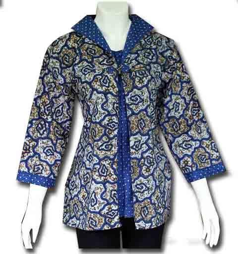 busana wanita blus batik
